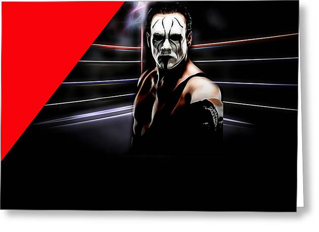 Sting Steve Borden, Sr. Wrestling Collection Greeting Card by Marvin Blaine