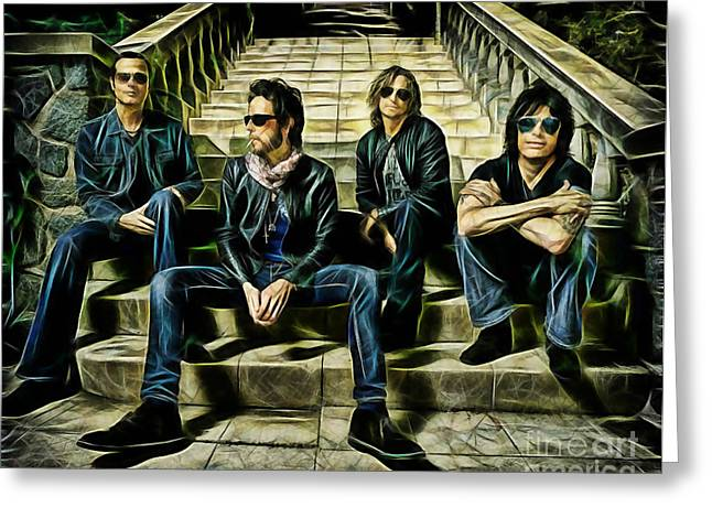 Stone Temple Pilots Collection Greeting Card by Marvin Blaine