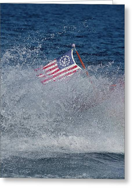 Red White Blue Greeting Card by Steven Lapkin