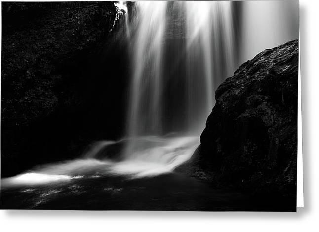 Sum Waterfall In Vintgar Gorge Greeting Card