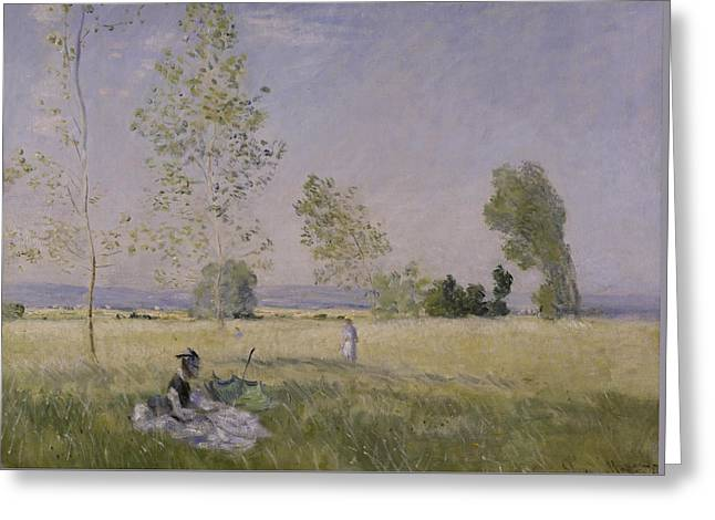 Summer Greeting Card by Claude Monet