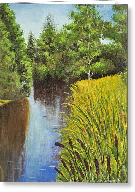 Summer Landscape, Painting Greeting Card