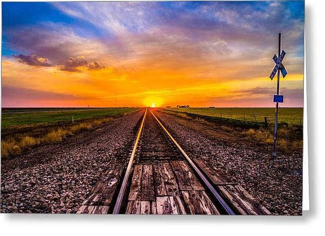 Sun Tracks Greeting Card