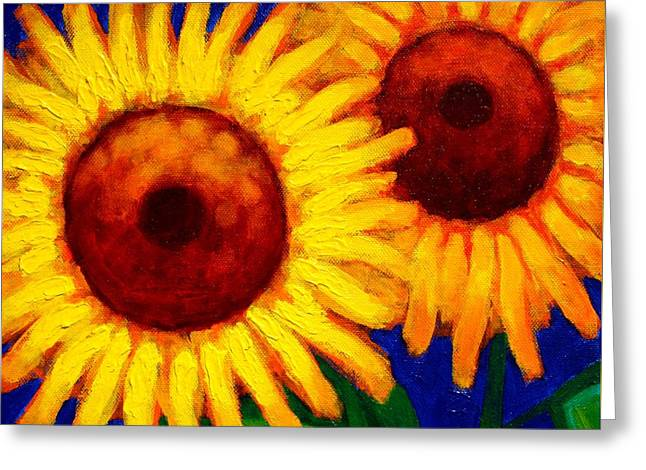 Sunflower Duet  Greeting Card by John  Nolan