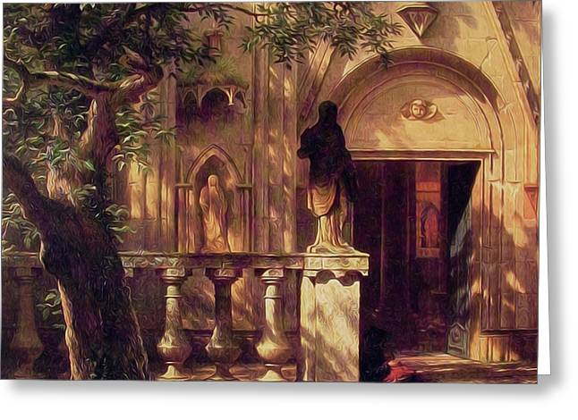 Sunlight And Shadow Greeting Card by Albert Bierstadt