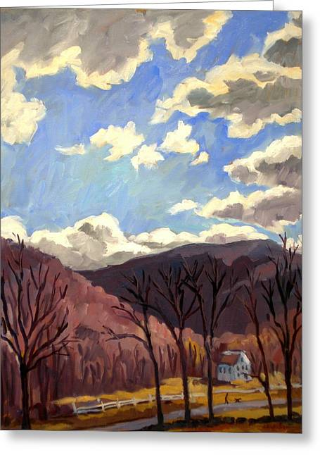 Sunny Autumn Berkshires Greeting Card by Thor Wickstrom