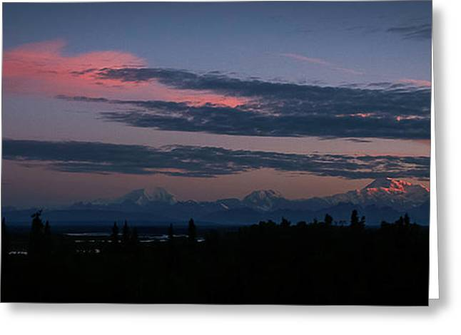 Sunrise And The Alaska Range Greeting Card