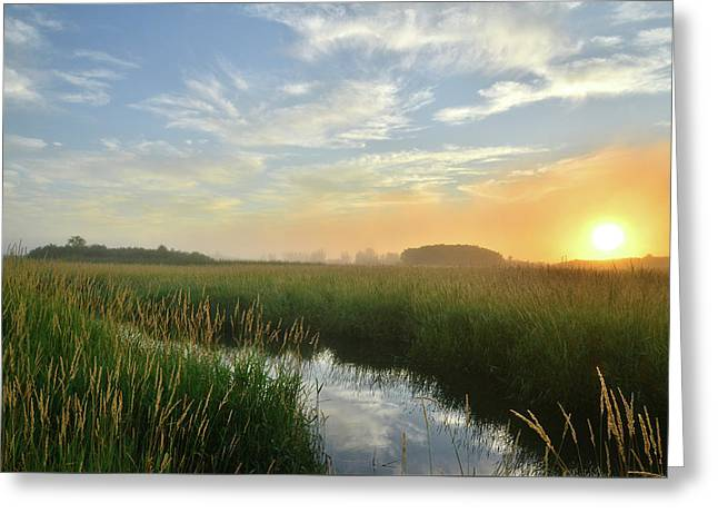 Sunrise At Glacial Park Greeting Card