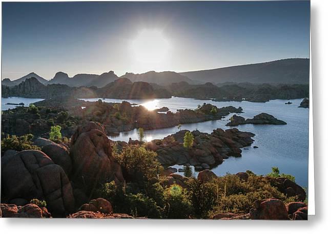 Sunrise At Watson Lake Greeting Card
