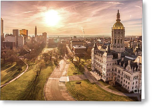 Sunrise In Hartford Connecticut Greeting Card