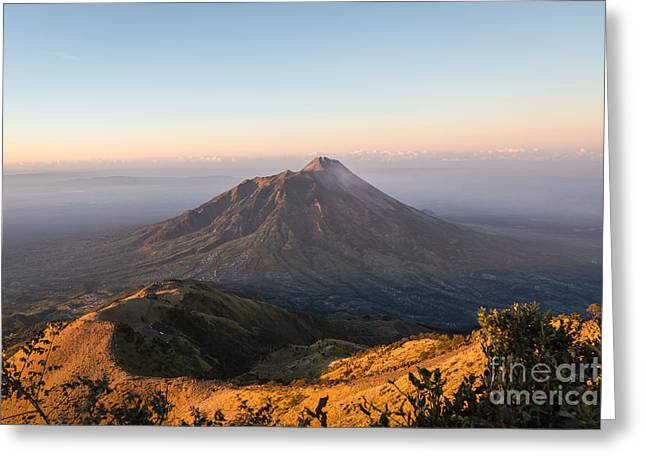 Sunrise Over Java In Indonesia Greeting Card