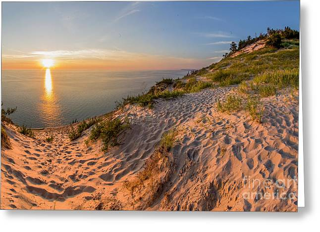 Sunset At Old Baldy Greeting Card