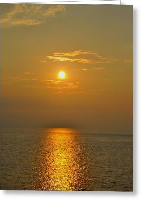 Sunset At Rameshwaram  Greeting Card