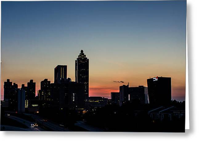Sunset In Atlanta Greeting Card