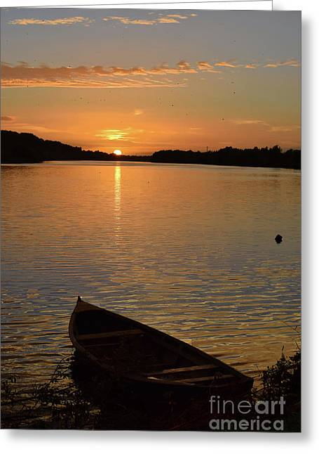 Sunset On The River Suir Greeting Card by Joe Cashin