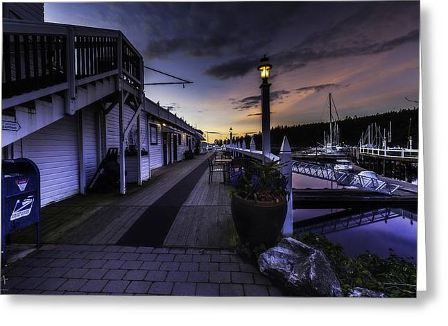 Sunset Roche Harbor Greeting Card by Thomas Ashcraft