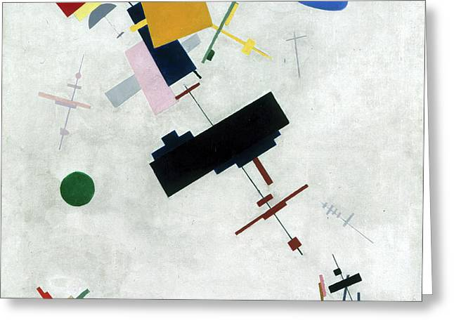 Suprematism Greeting Card by Kazimir Malevich