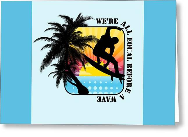 Surfboard Greeting Card