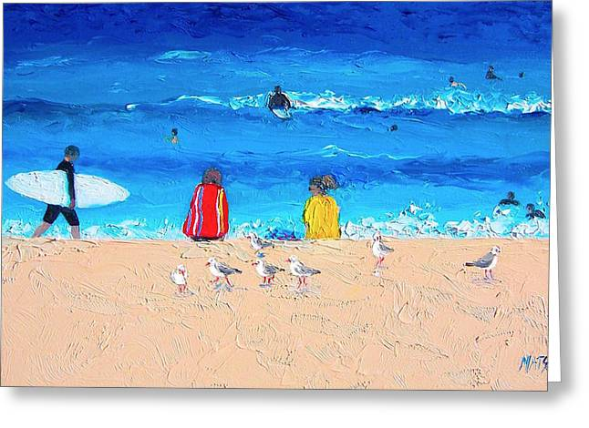 Surfer Girls Greeting Card