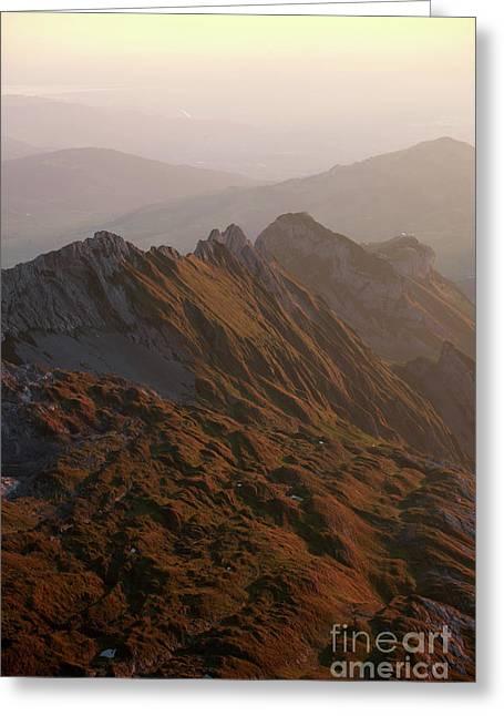 Swiss Alps Greeting Card by Jana Behr