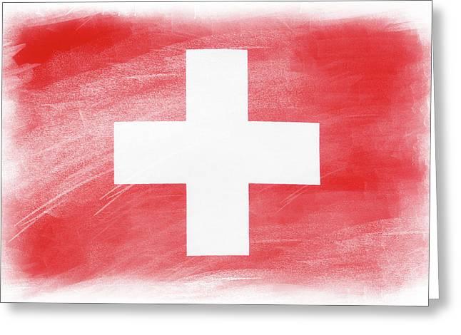 Swiss Flag Greeting Card