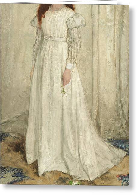 Symphony In White, No 1 - The White Girl Greeting Card by James Abbott McNeill Whistler