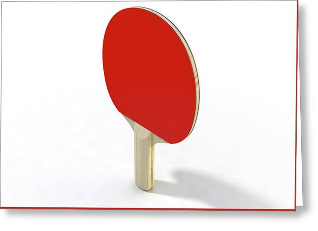 Table Tennis Paddle Greeting Card