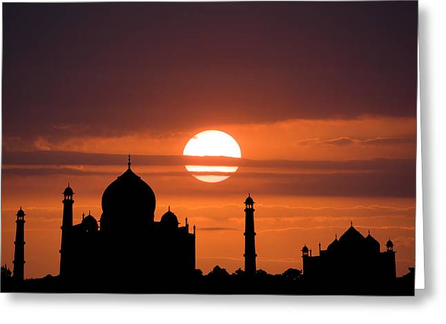 Taj Mahal Sunset Greeting Card