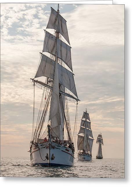 Parade Of Ships Greeting Card