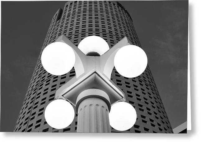 Tampa Architecture Greeting Card by David Lee Thompson