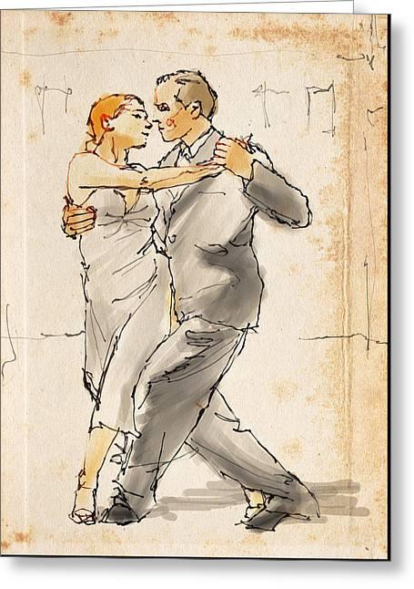 Tango  Greeting Card by H James Hoff