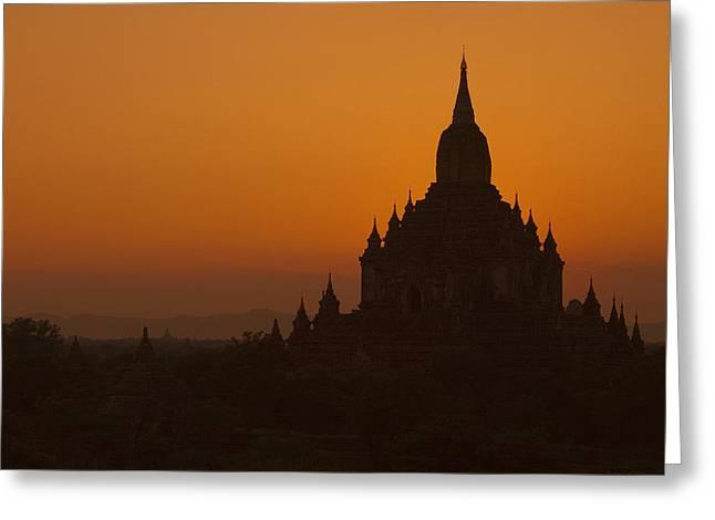Temples Of Bagan Greeting Card by Arabesque Saraswathi