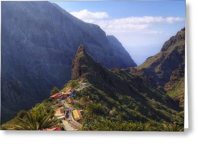 Tenerife - Masca Greeting Card by Joana Kruse