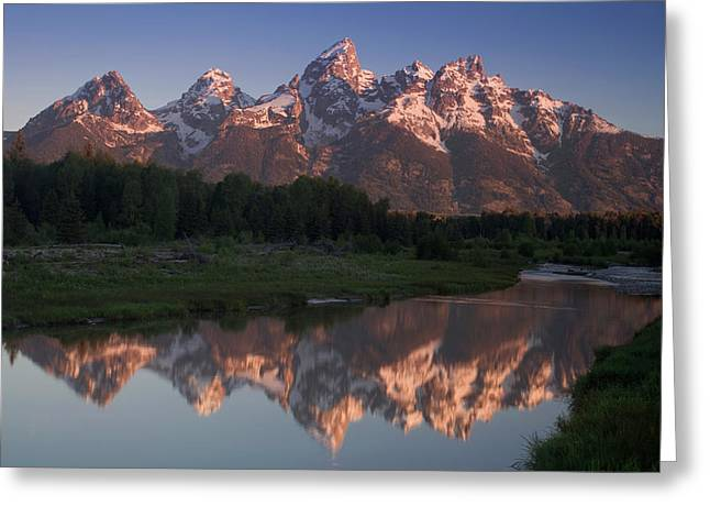 Western Usa Greeting Cards - Teton Reflections Greeting Card by Andrew Soundarajan