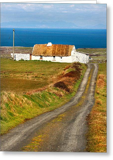Thatch Roof Cottage Ireland Greeting Card by Pierre Leclerc Photography