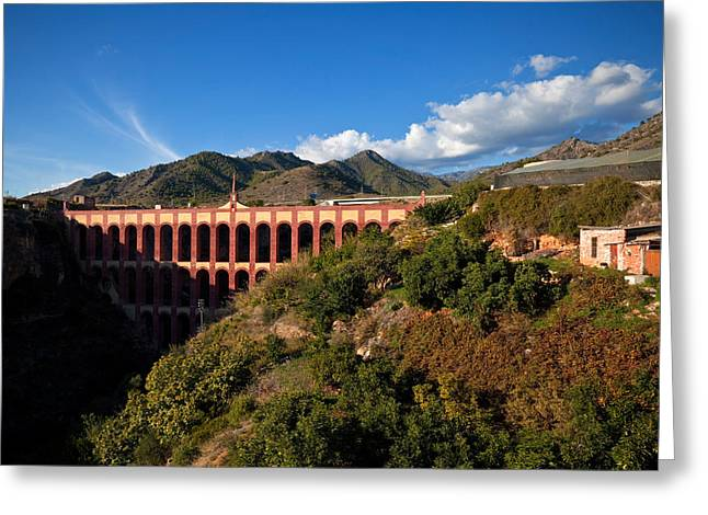 The 19th Century Eagle Aqueduct Greeting Card by Panoramic Images