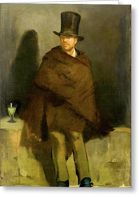 The Absinthe Drinker Greeting Card by Edouard Manet