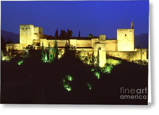 The Alcazaba The Alhambra Greeting Card by Guido Montanes Castillo