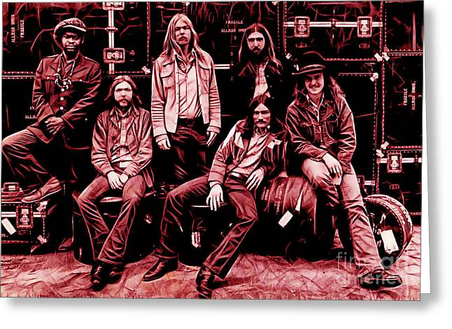 The Allman Brothers Collection Greeting Card by Marvin Blaine