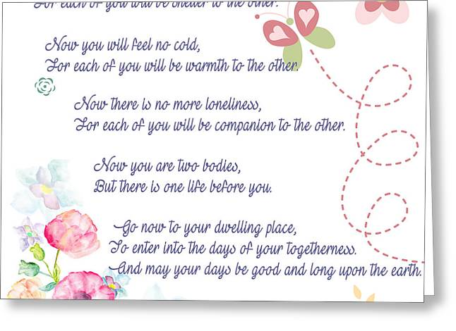 The Apache Wedding Blessing Greeting Card by Celestial Images