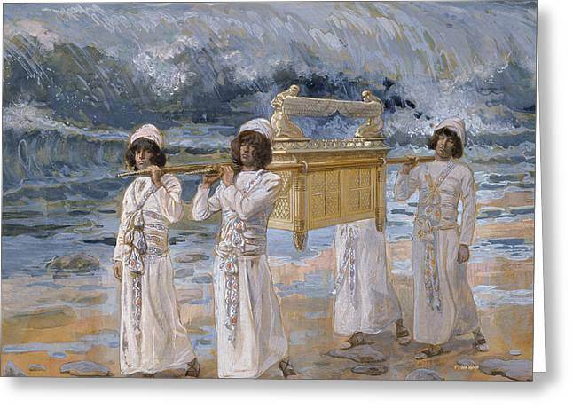 The Ark Passes Over The Jordan Greeting Card by James Tissot