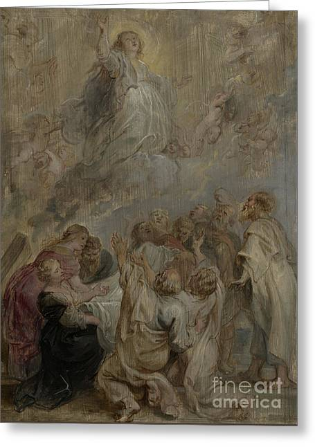 The Assumption Of The Virgin Greeting Card by Peter Paul Rubens