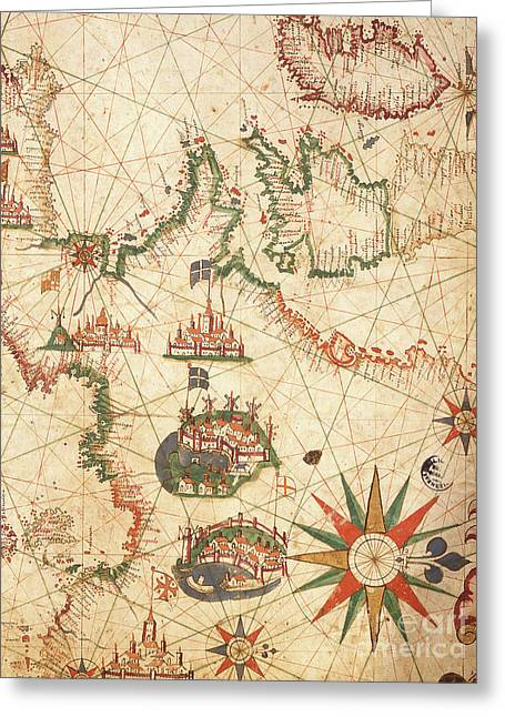 The Atlantic Coasts Of Europe And The Western Mediterranean, From A Nautical Atlas, 1651  Greeting Card by Pietro Giovanni Prunes