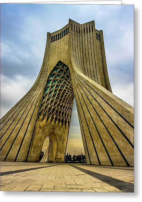 The Azadi Tower Greeting Card by Mao Lopez