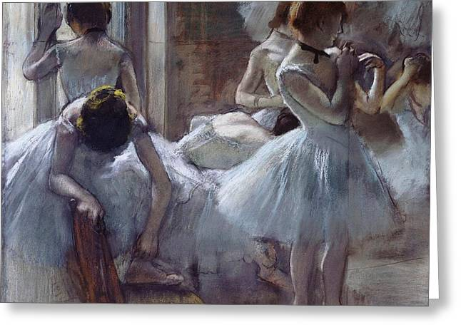 The Ballet Class Greeting Card by Edgar Degas