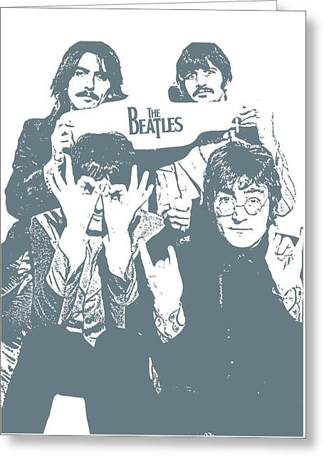 The Beatles Greeting Card by Unknown