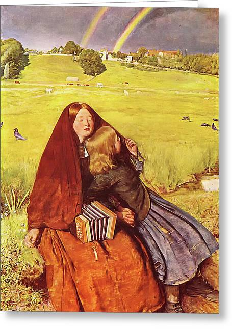 The Blind Girl Greeting Card by John Everett Millais