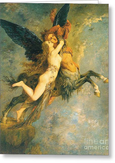 The Chimera Greeting Card by Gustave Moreau