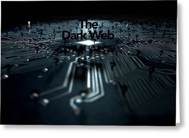 The Dark Web Concept Greeting Card by Allan Swart
