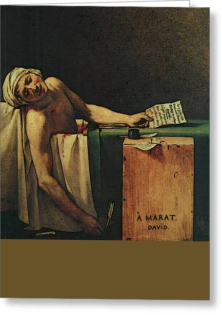 The Death Of Marat  Greeting Card by Jacques-Louis David